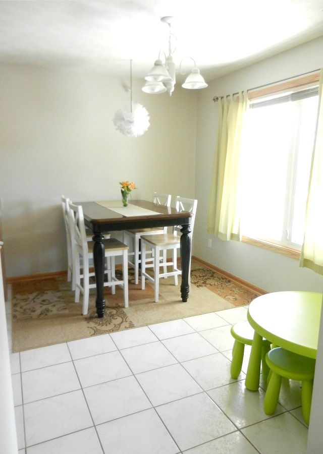 small family dining space