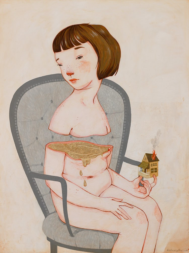 My insides are gold, Rebecca Green illustration
