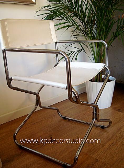 Comprar sillas vintage originales, de diseño, estilo retro, sillas de director metálicas