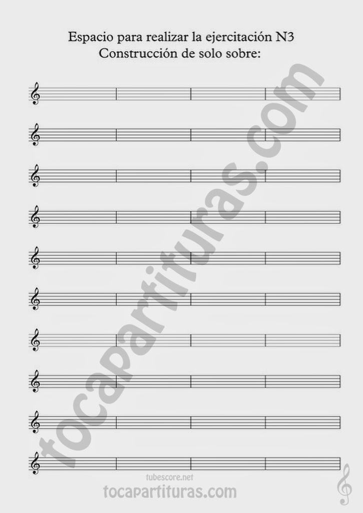 Partitura para realizar el Ejercicio de Improvisación Nº3