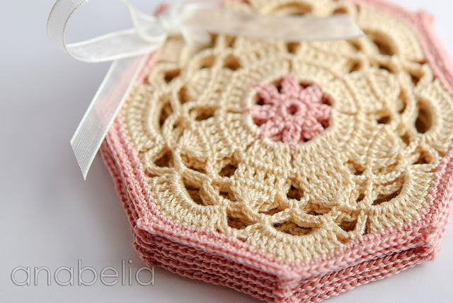 Crochet coasters sets by Anabelia