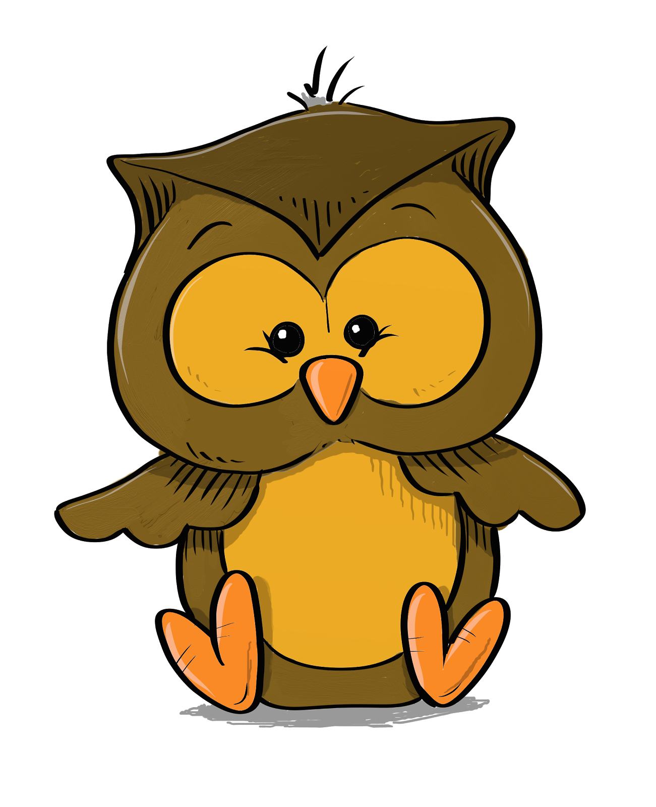 Arrrggghhh another blog daily quick sketch lil for A cartoon owl