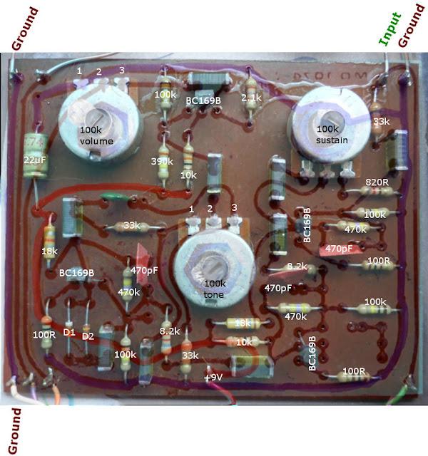 Supa tonebender circuit