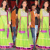 Kimaya in Green Net Salwar