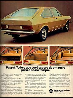 propaganda Passat - 1977.  propaganda anos 70. propaganda carros anos 70. reclame anos 70. Oswaldo Hernandez..