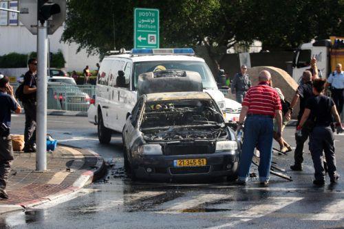 Kerusakan di Tel Aviv akibat roket Palestina