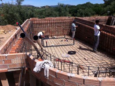Construcci n de una piscina paso a paso 1 parte el for Como hacer una piscina de hormigon