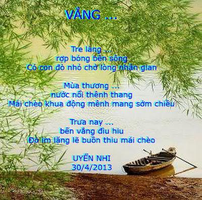 TRANH THƠ - UYENNHI Benxua+vang+lang