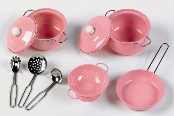 http://wooden-toys-direct.co.uk/kitchen-toys/kitchen-accessories/9-piece-metal-pink-pretend-toy-pan-set.html