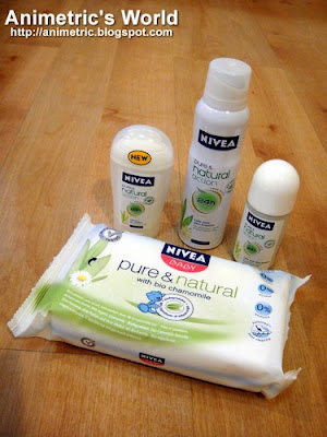 Nivea Pure and Natural products
