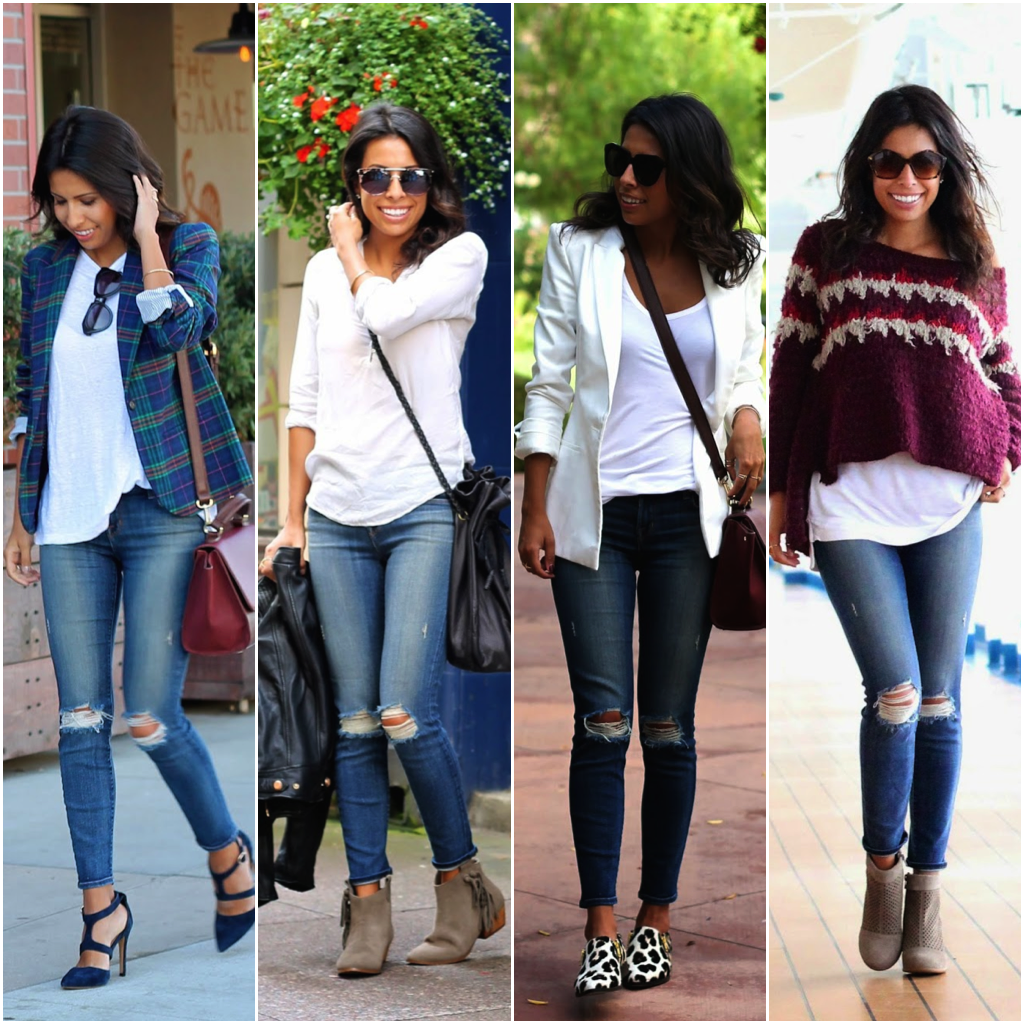 ways to wear distressed denim, how to style distressed jeans, fall style, fall fashion