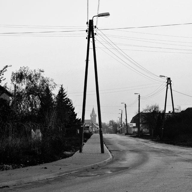 Końskie, widok na ulicę Wjazdową dawniej ulica Nowy Świat.