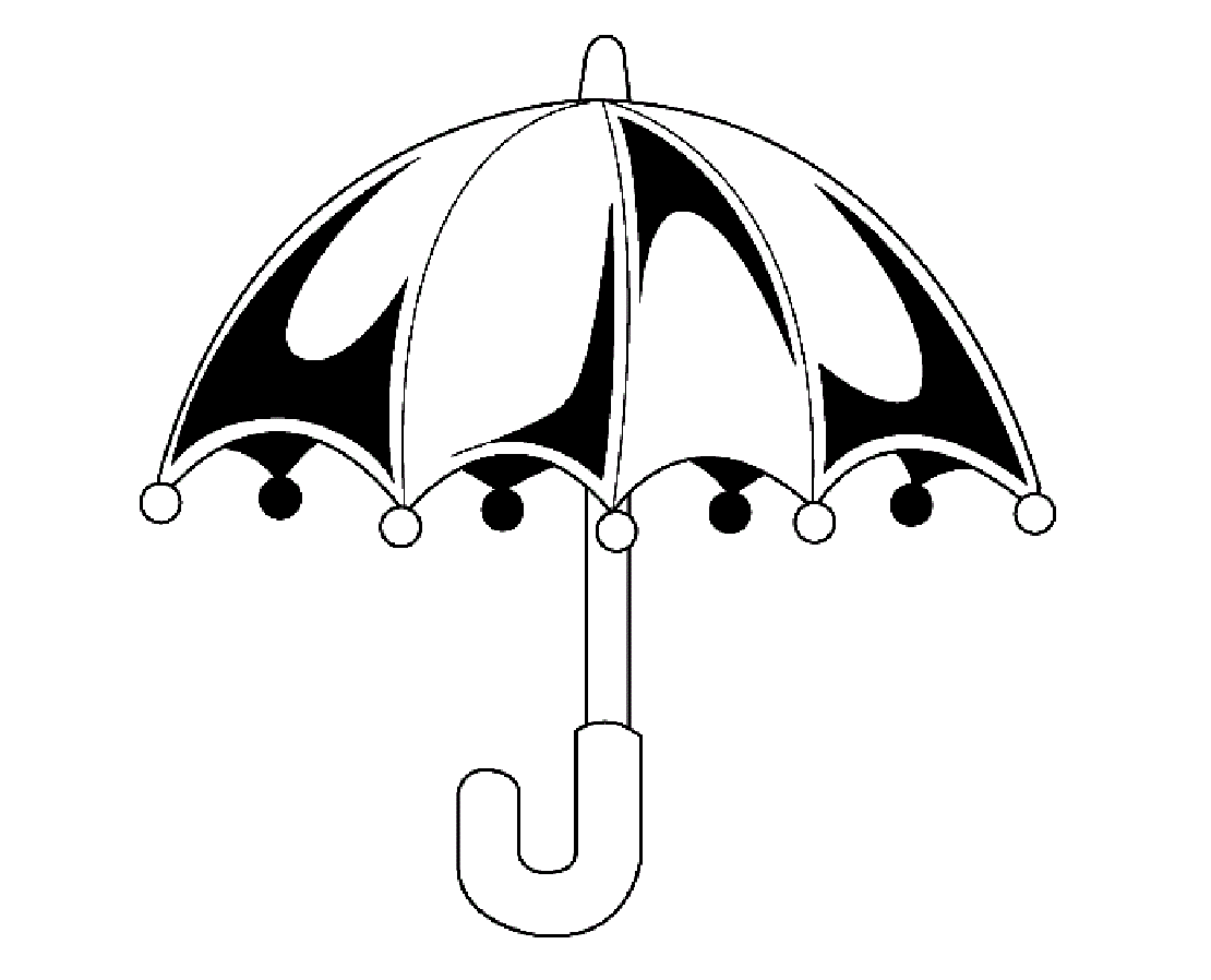 Beautiful Umbrella For Kid Coloring Page Free wallpaper