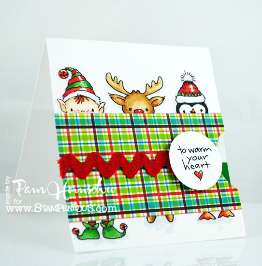 The pampered stamper stampendous christmas in july peeking pals stampendous christmas in july peeking pals gift card holder solutioingenieria Image collections