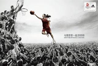 Adidas Basketball Ads China Beijing 2008 Olympics HD Wallpaper
