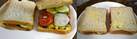 how to make Mumbai style masala toast sandwich