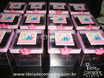 caixinhas acrilicas - lembrancinha das princesas
