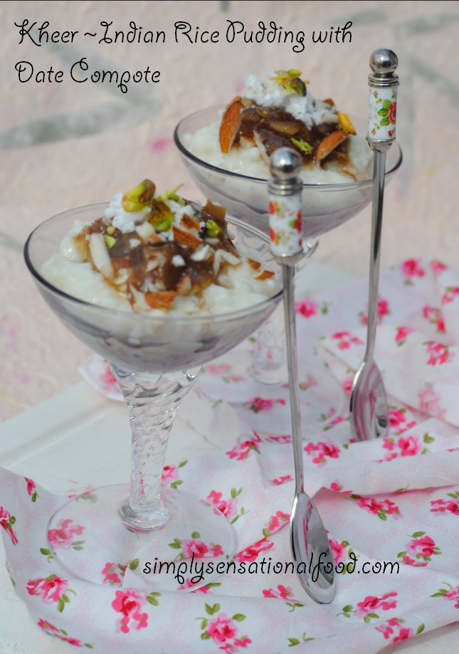 kheer ~  indian rice pudding with date compote and lékué microwave rice and grain cooker giveaway
