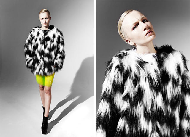 made in britain, fake fur, neon, joanna pybus