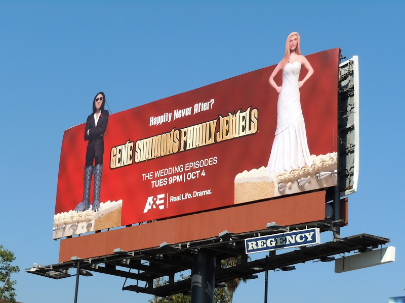 Family Jewels wedding TV billboard