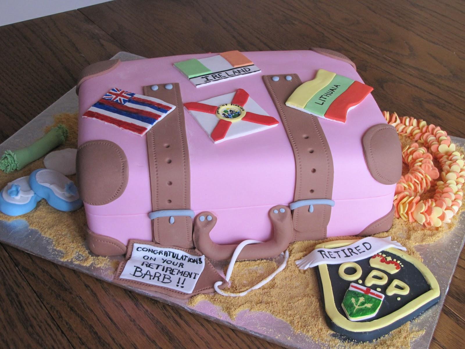 Ann Maries Creative Cakes Suitcase Retirement