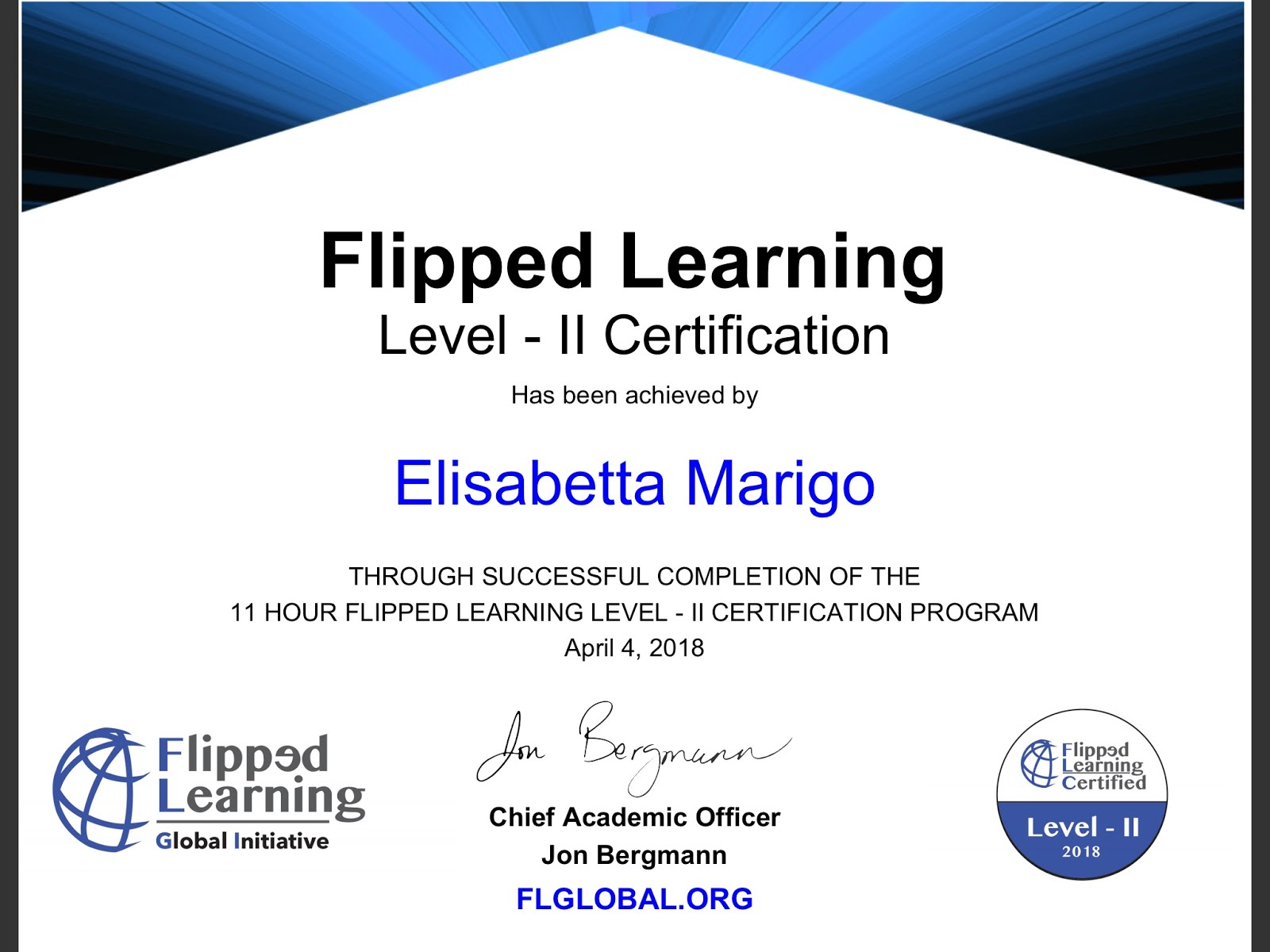 FLIPPED LEARNING CERTIFICATION  LEVEL II