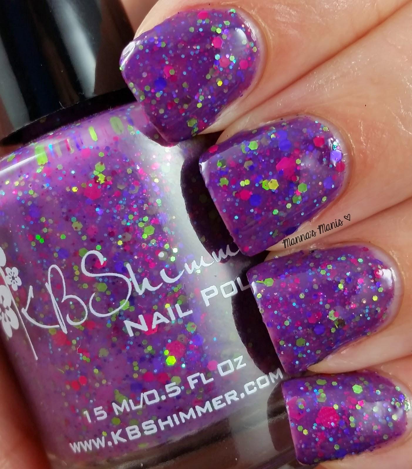 kbshimmer sugar plum faerie, a purple crelly nail polish