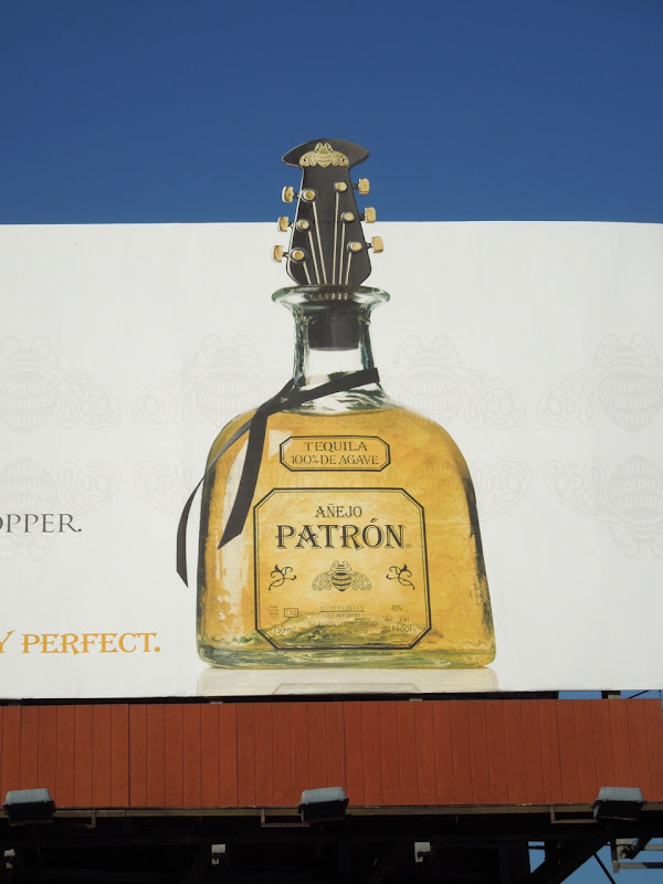 Patron Tequila Varvatos bottle stopper billboard