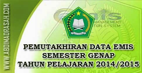 Pemutakhiran Emis Semester Genap TP 2014/2015