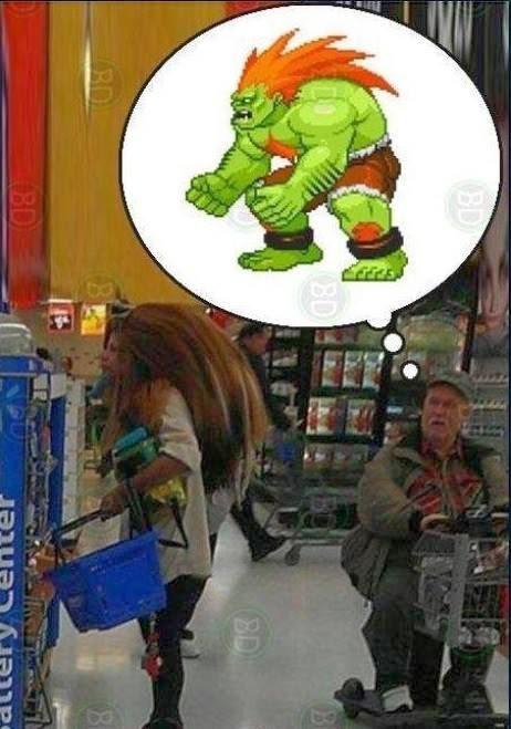 Ver a Blanka en el supermercado