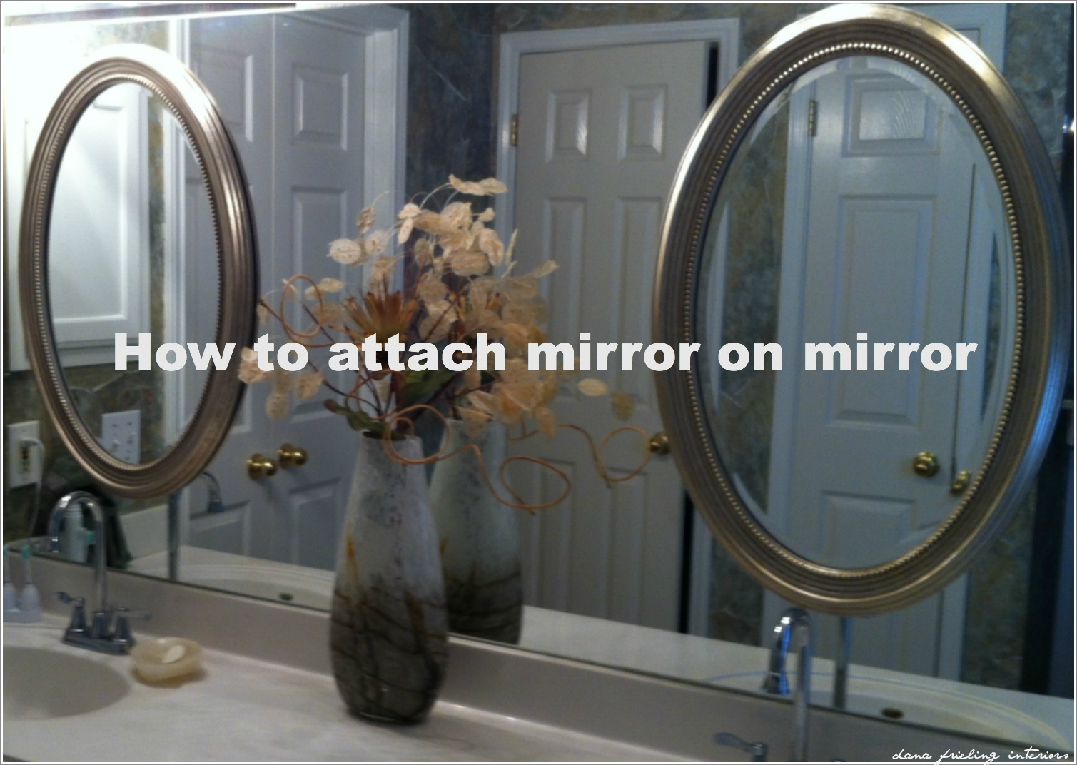 How to glue a bathroom mirror to the wall - Monday March 11 2013