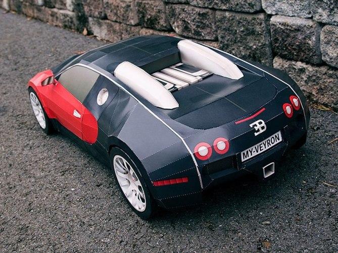 bugatti veyron papercraft model paperox free papercraft. Black Bedroom Furniture Sets. Home Design Ideas