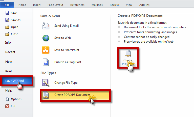 how to send documents by pdf