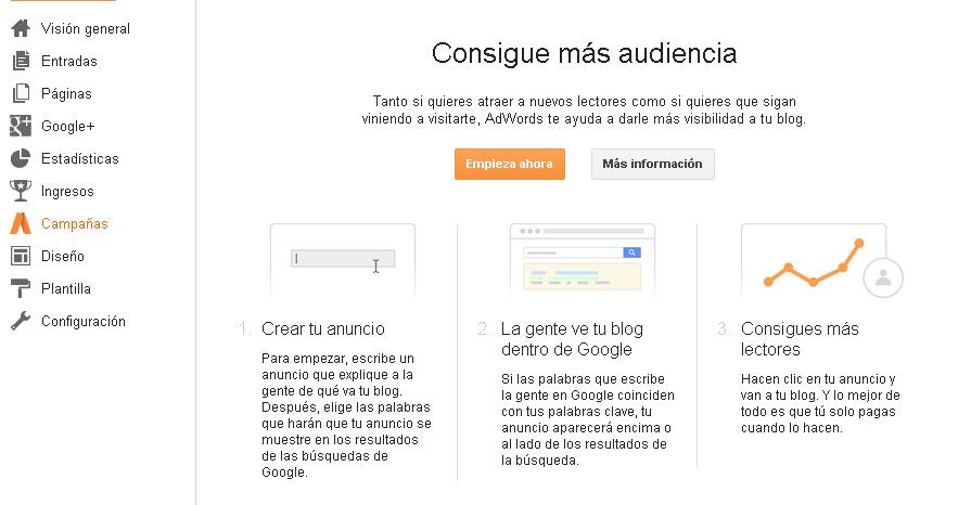 Campañas de Blogger