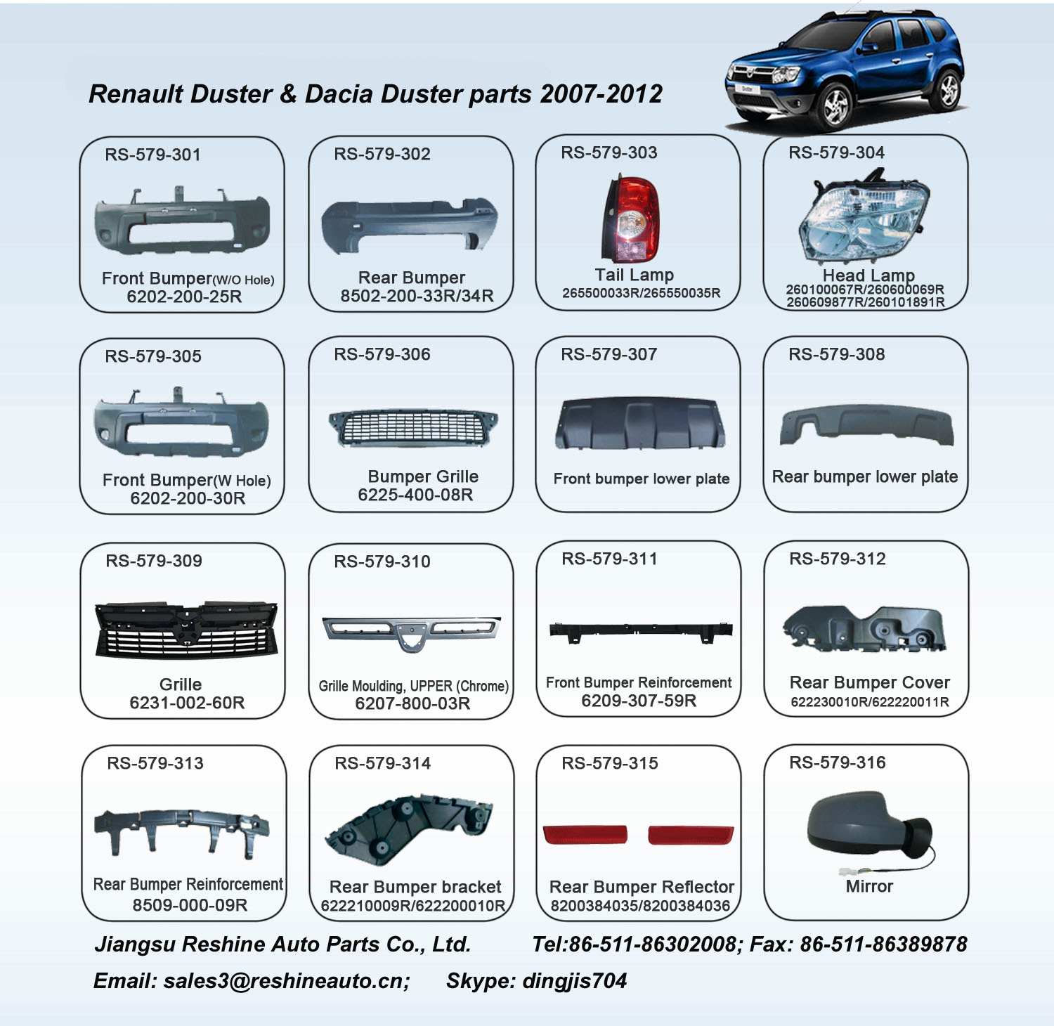 renault duster auto parts dacia duster auto parts renault duster front grille head lamp tail. Black Bedroom Furniture Sets. Home Design Ideas
