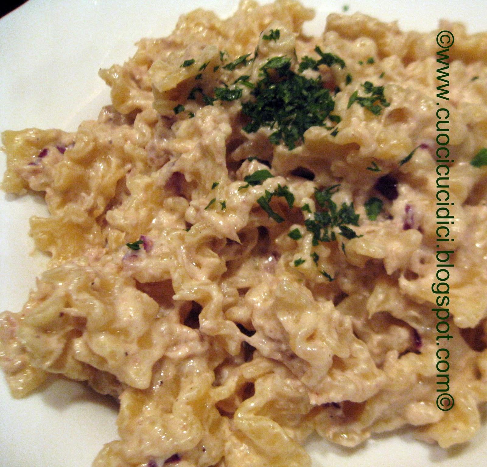 Cuocicucidici pasta tonno e pasta tuna fish and Tuna and philadelphia pasta