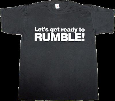 Michael Buffer boxing TV sport t-shirt ephemeral-t-shirts