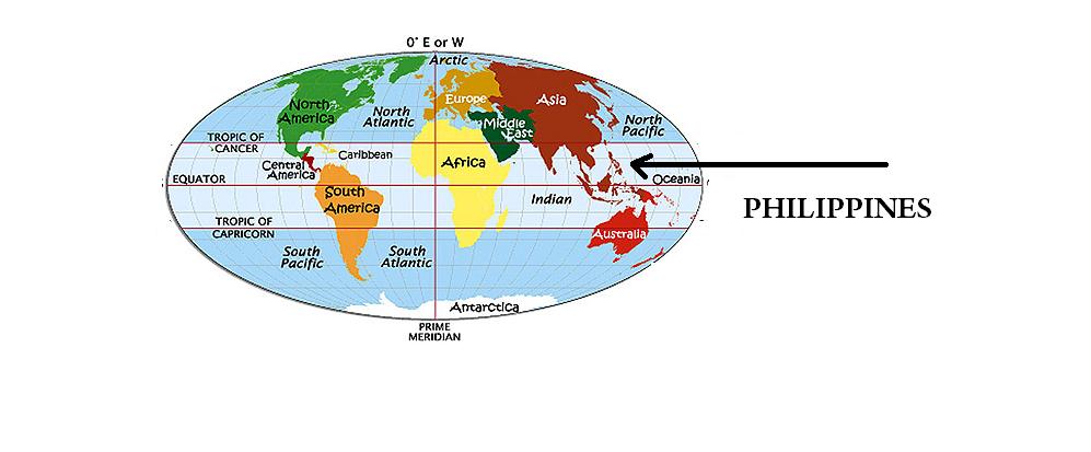 Saan matatagpuan ang Pilipinas sa Mapa ng Mundo?