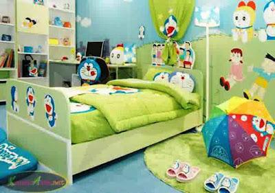 Konsep Desain Kamar Tidur Anak Doraemon