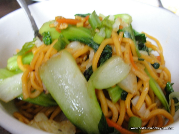 fried noodles at Phayul Restaurant in Jackson Heights, NY