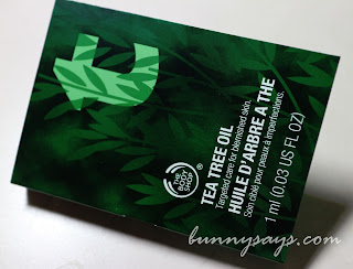 The Body Shop Tea Tree Oil sample