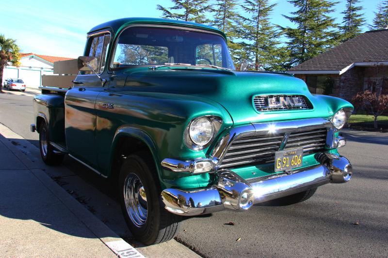 San Ramon Street Sighting 1957 Gmc 100on 1956 Chevy Cameo Pickup Truck