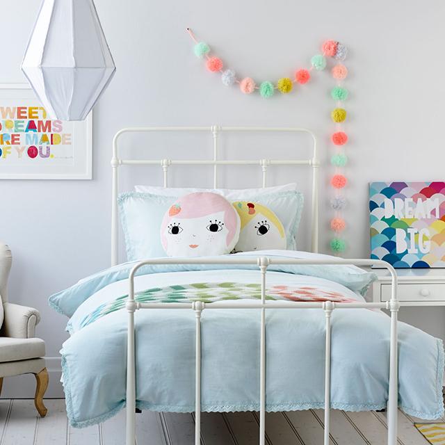 dormitorio infantil decoración colores pastel