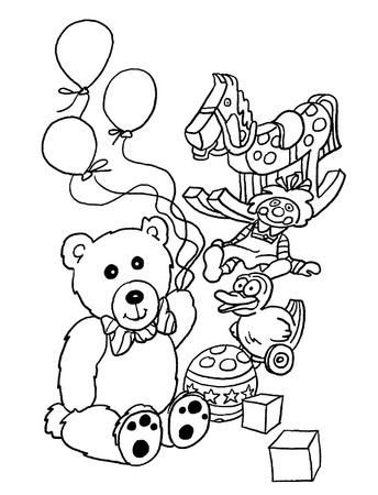 Dibujos para imprimir y colorear: Juguetes para colorear