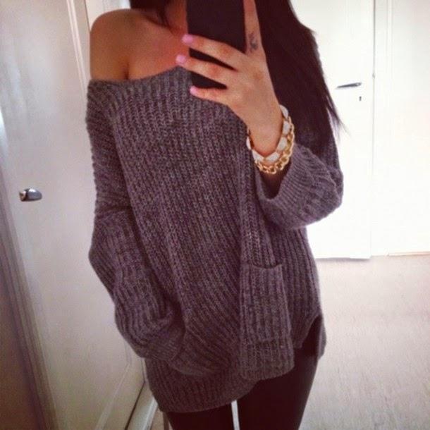 Вязанные свитера широкие
