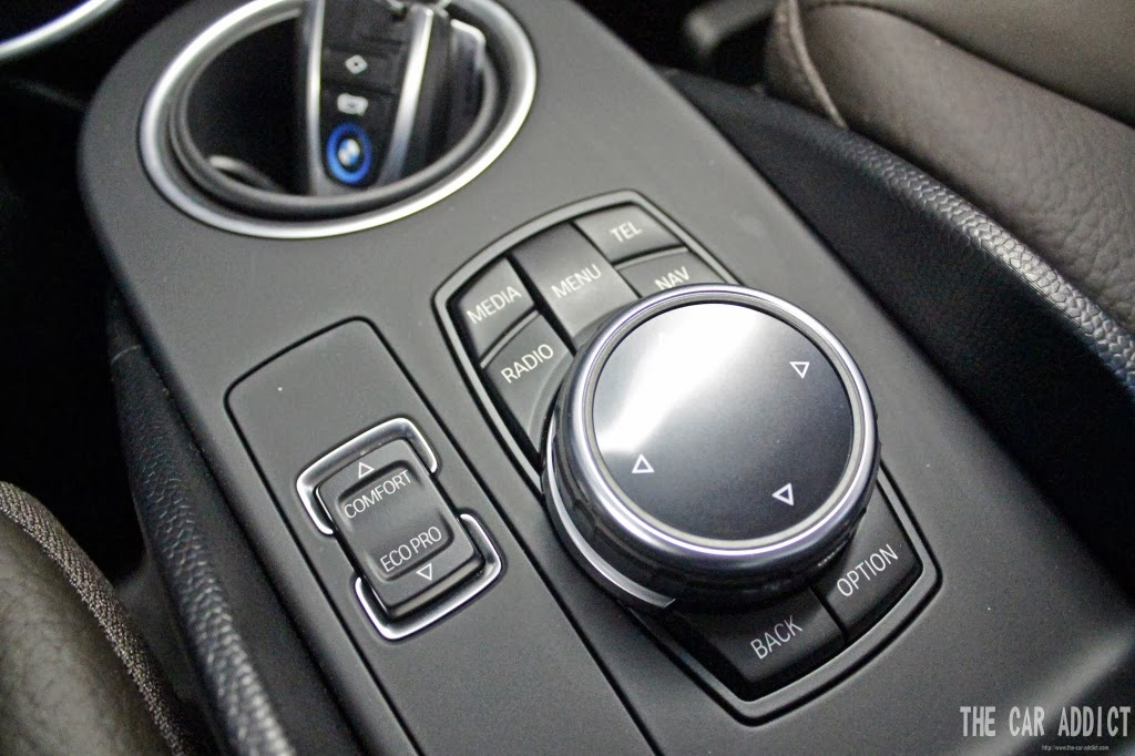 BMW i3 Comfort and Eco Pro Mode Button