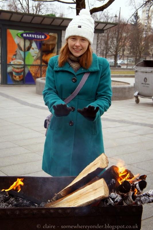 Warming my hands - Užgavénés - Vilnius, Lithuania