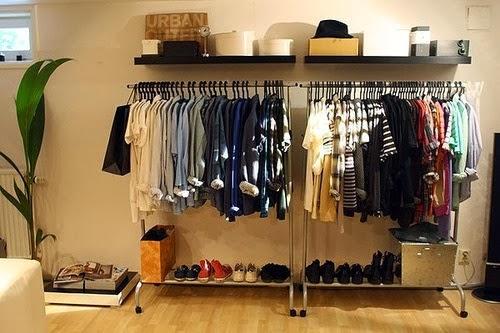 closet com conceito aberto