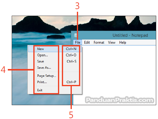 how to open notepad in windows 8 shortcut
