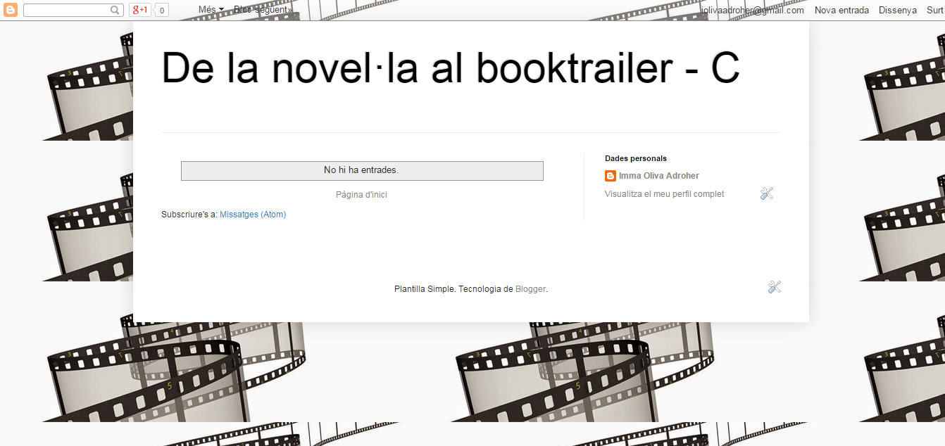 BLOG DE LA NOVEL·LA AL BOOKTRAILER_C curs 15-16
